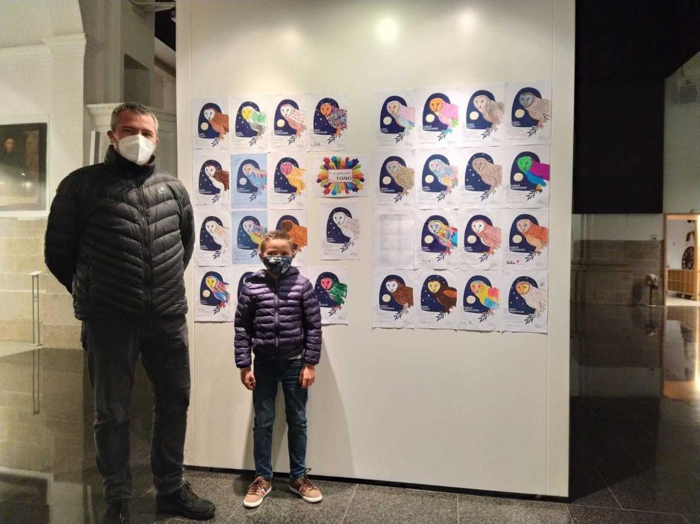 La lechuza del mural de Espacio Pirineos de Graus ya tiene nombre, Boira