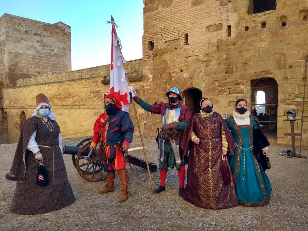 La ambientación histórica del Castillo de Monzón durante estas fiestas atrae a 700 personas