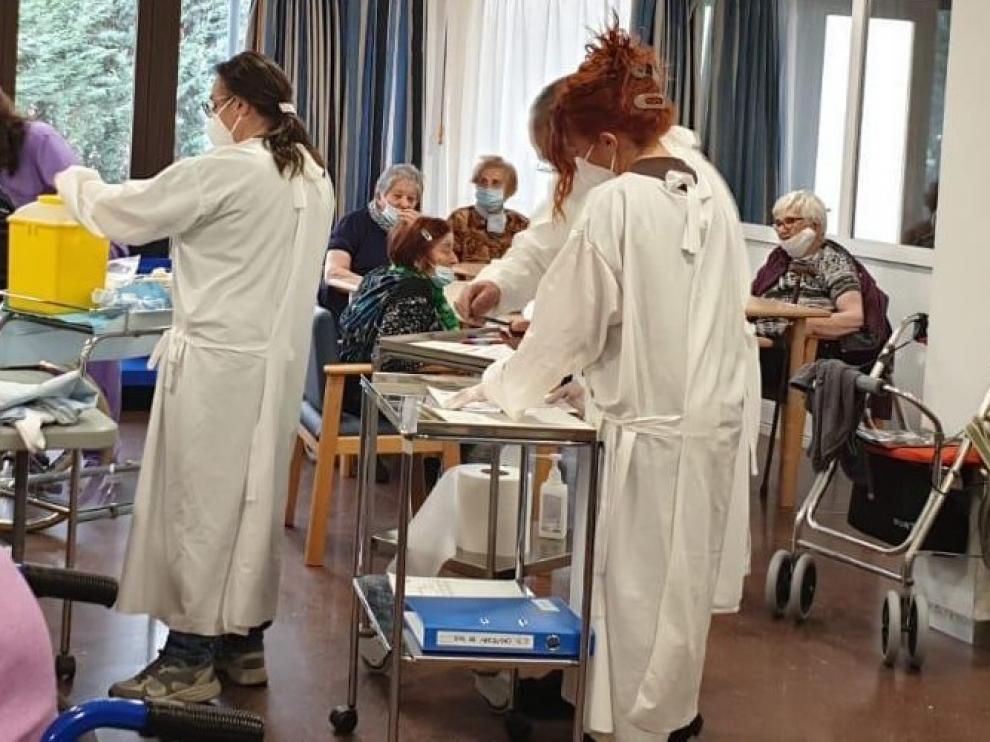 La vacuna ya ha llegado a las cuatro residencias de la Ribagorza