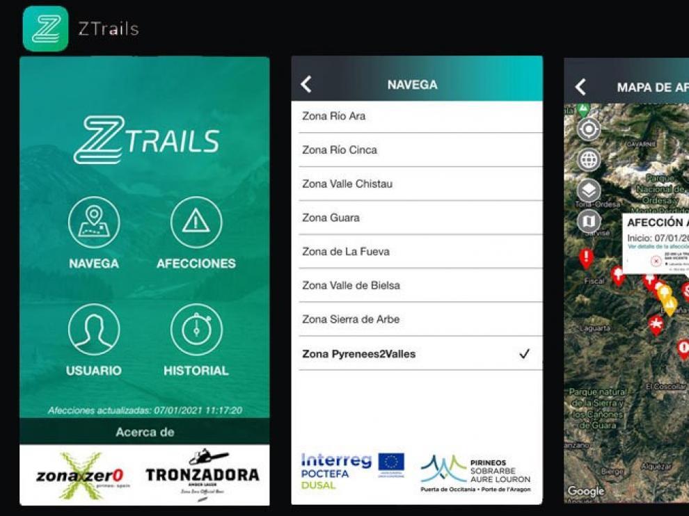 Zona Zero mejora y enriquece su app de rutas