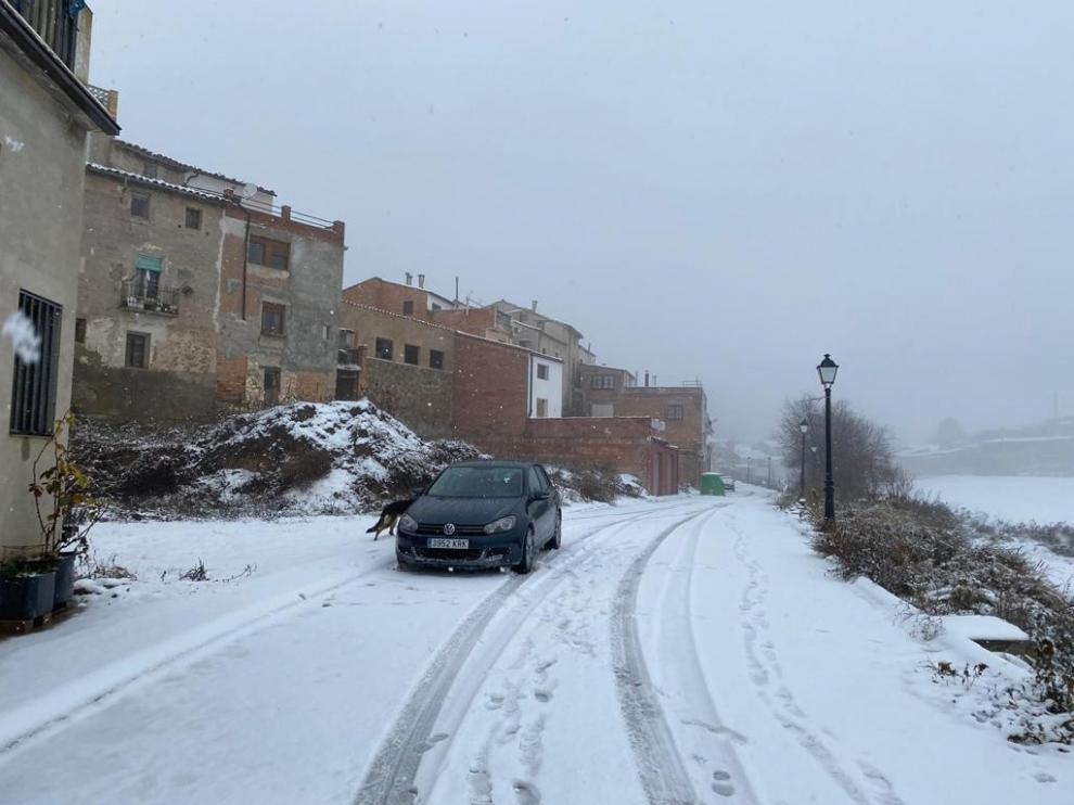 Las poblaciones de la Litera Alta, las más afectadas por la nieve