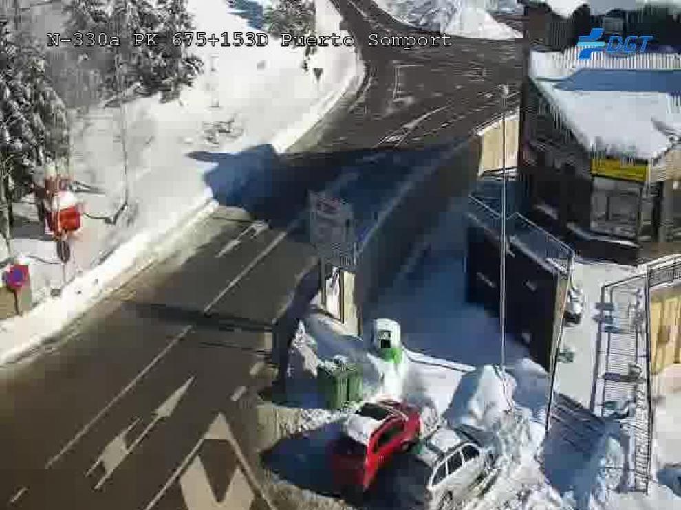 Siguen cortadas las carreteras de acceso al Balneario de Panticosa y al cañón de Añisclo