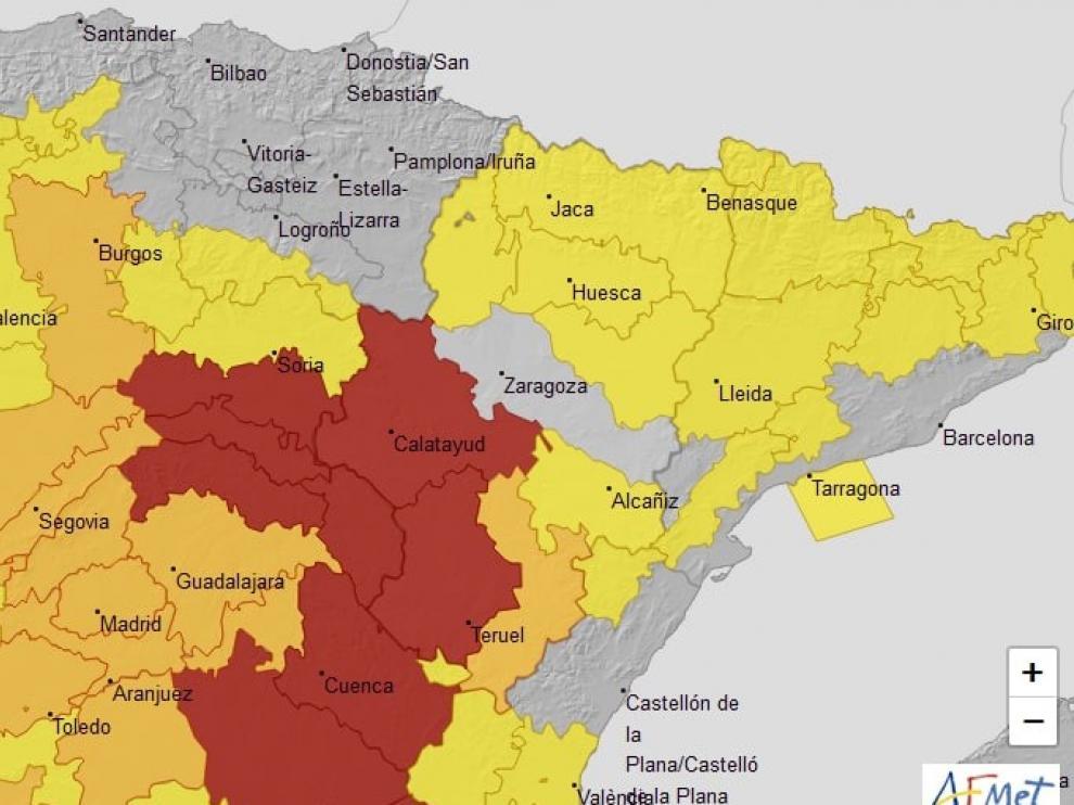 Activada la alerta amarilla por temperaturas de hasta -8 grados en el Pirineo
