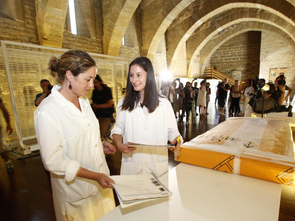 """Las visitas guiadas a la muestra de los bienes de Sijena comenzarán de forma """"inminente"""""""
