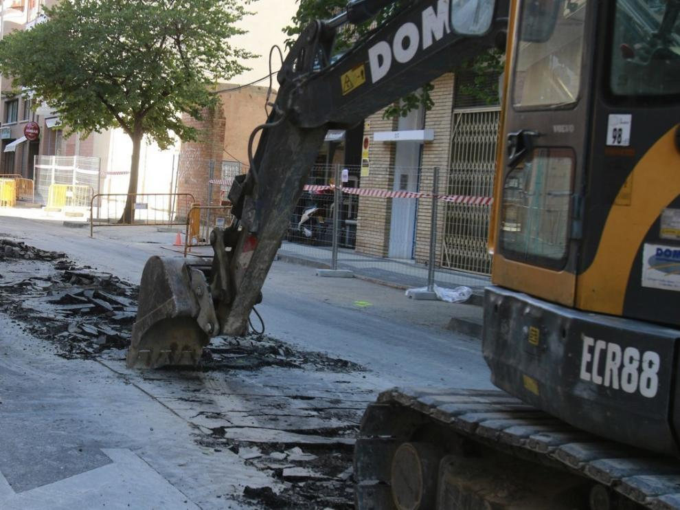 Cortada al tráfico este martes la calle Vidanía de Huesca, desde su acceso a la calle Artigas