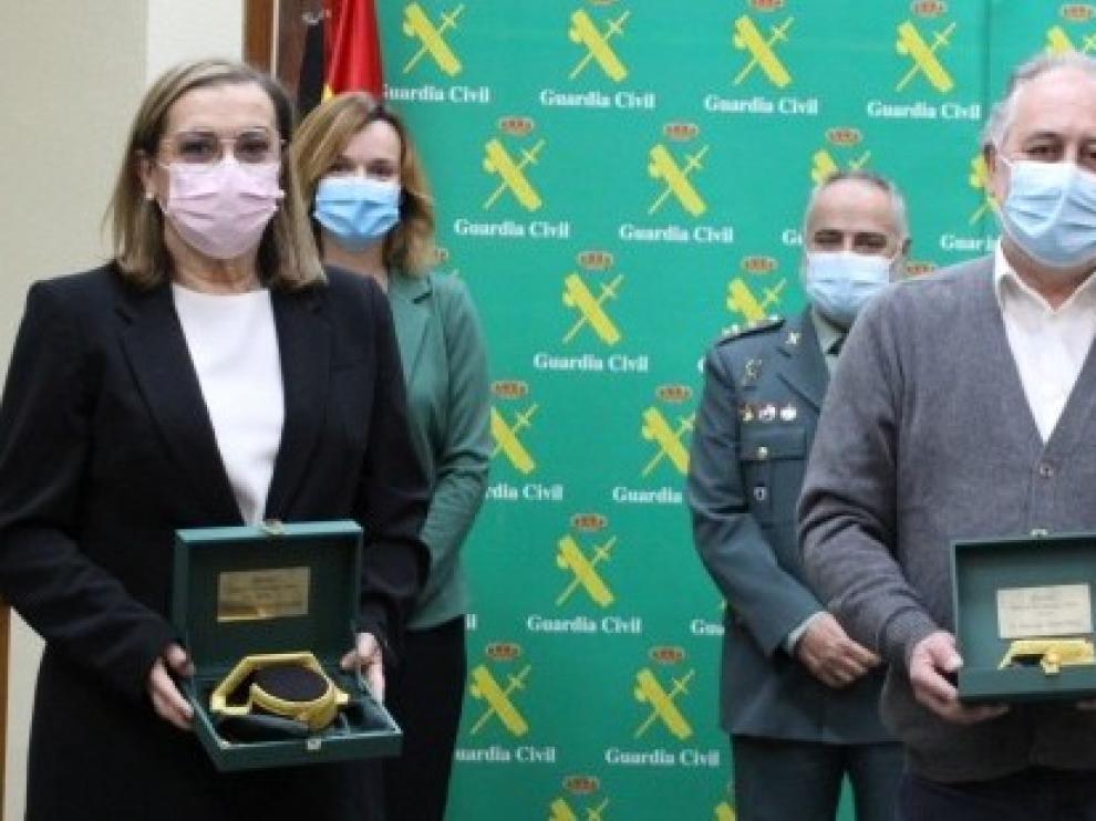 El 061 recibe el Premio Amigo de la Guardia Civil de Aragón 2020