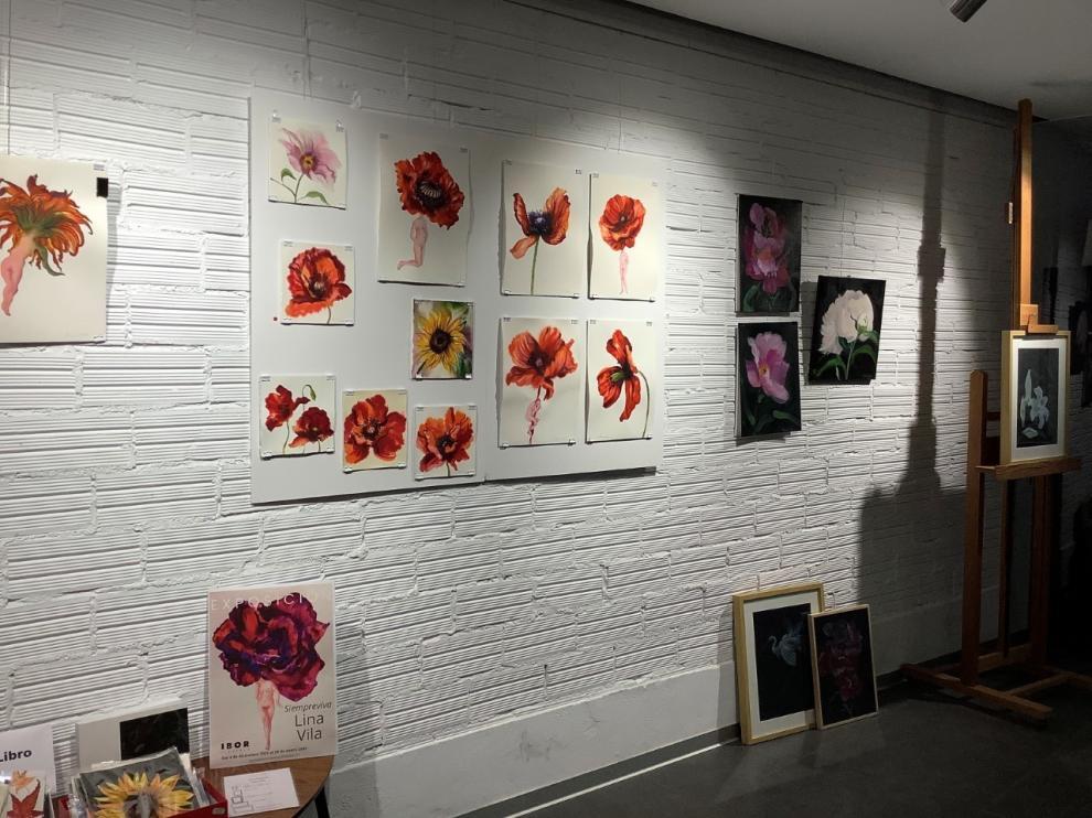 Lina Villa expone en Barbastro su gran entusiasmo por la vida