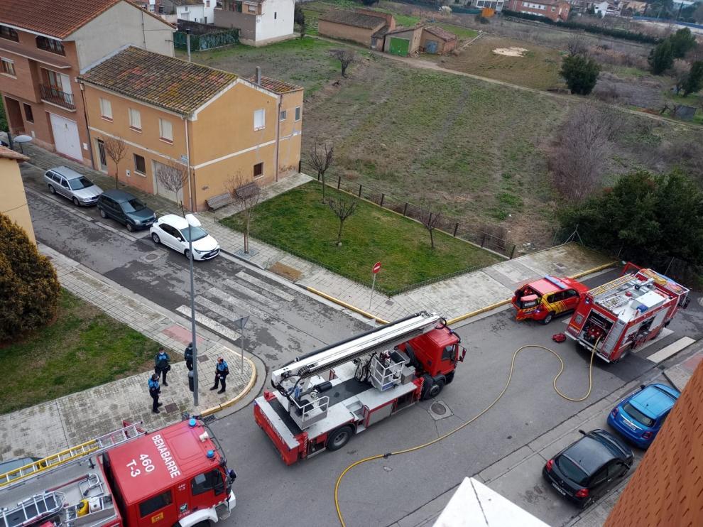 Se declara un incendio en una vivienda de Monzón
