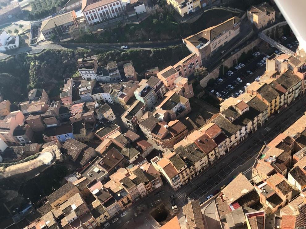 La Asociación del Casco Viejo de Fraga ve bien la peatonalización de la plaza de España