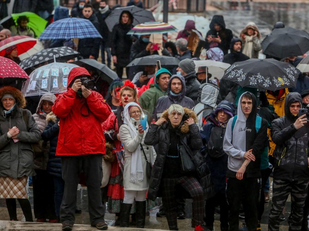 La Policía puso 216 multas a los participantes de la marcha negacionista de Madrid