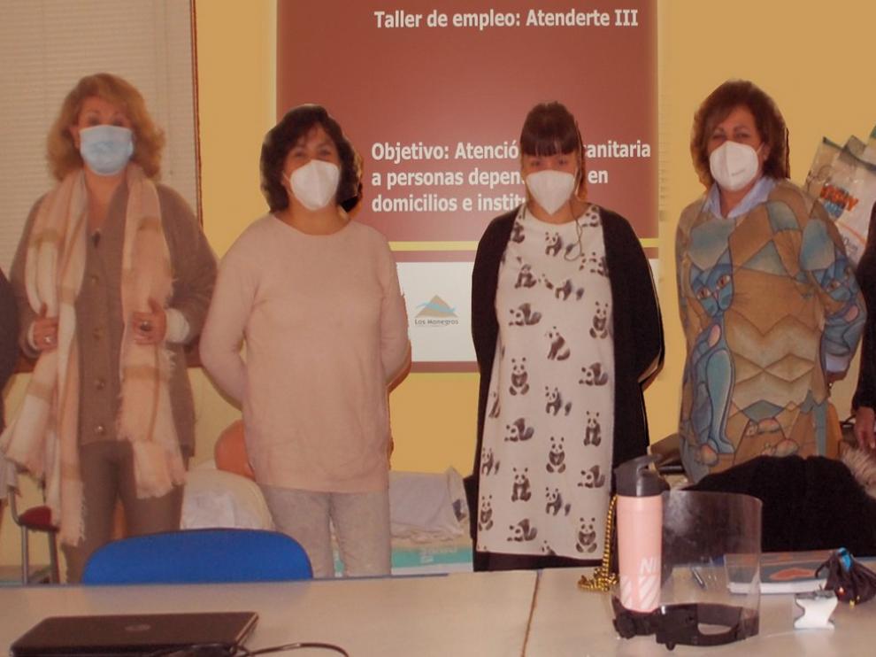 La atención sanitaria y social, ejes del taller de empleo Atenderte III de Los Monegros