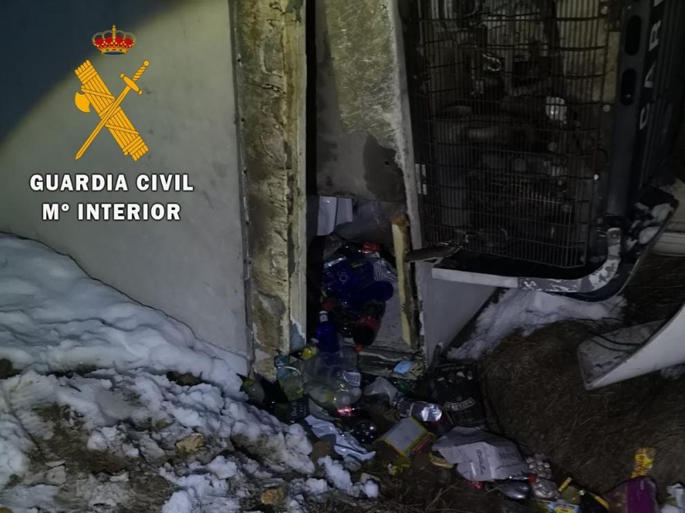 Detenidos seis vecinos de los Monegros por el robo del camión accidentado durante la borrasca 'Filomena'