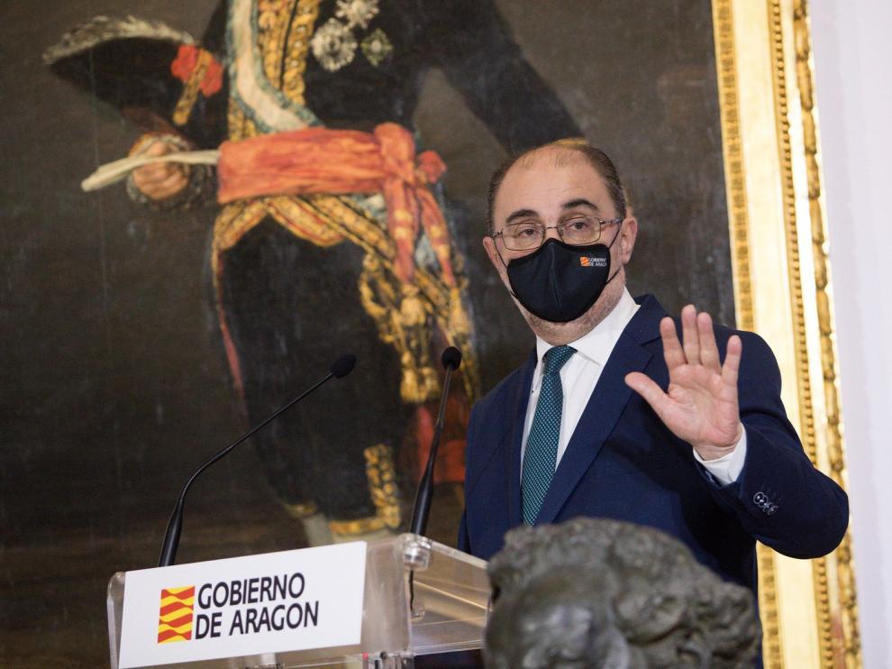 Javier Lambán, ingresado en el Hospital Miguel Servet de Zaragoza