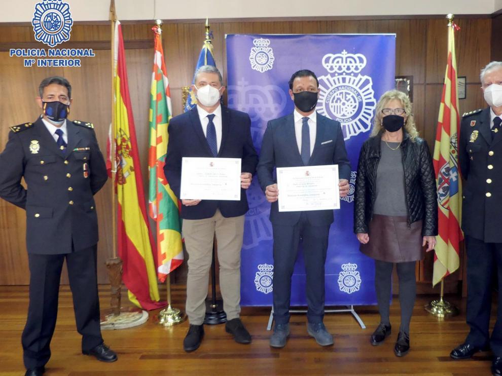 Reconocen la labor de la seguridad privada en Huesca durante la pandemia