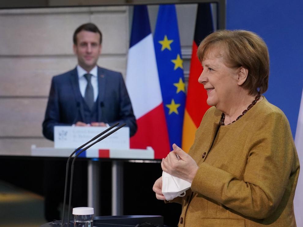 Merkel y Macron reivindican la soberanía de la Unión Europea