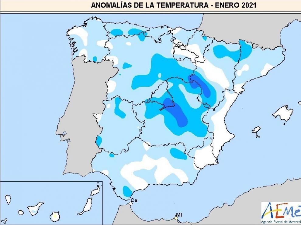 Este enero ha sido el más frío desde 2009, el más húmedo del siglo y récord de calor al final