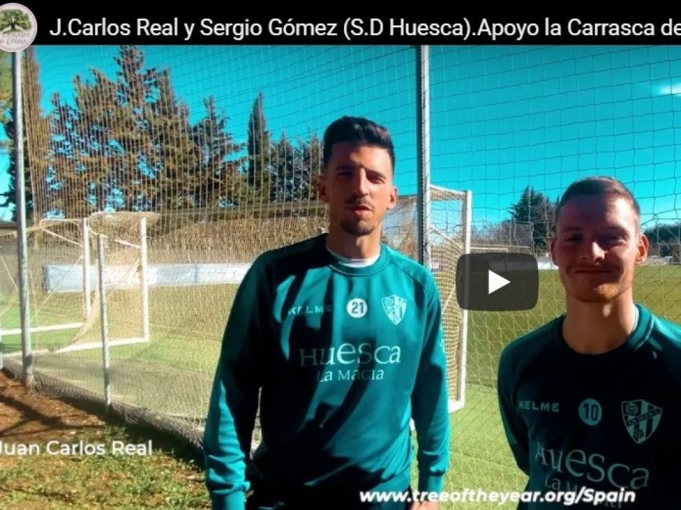La SD Huesca apoya y famosos como Jesús Calleja apoyan a la Carrasca de Lecina