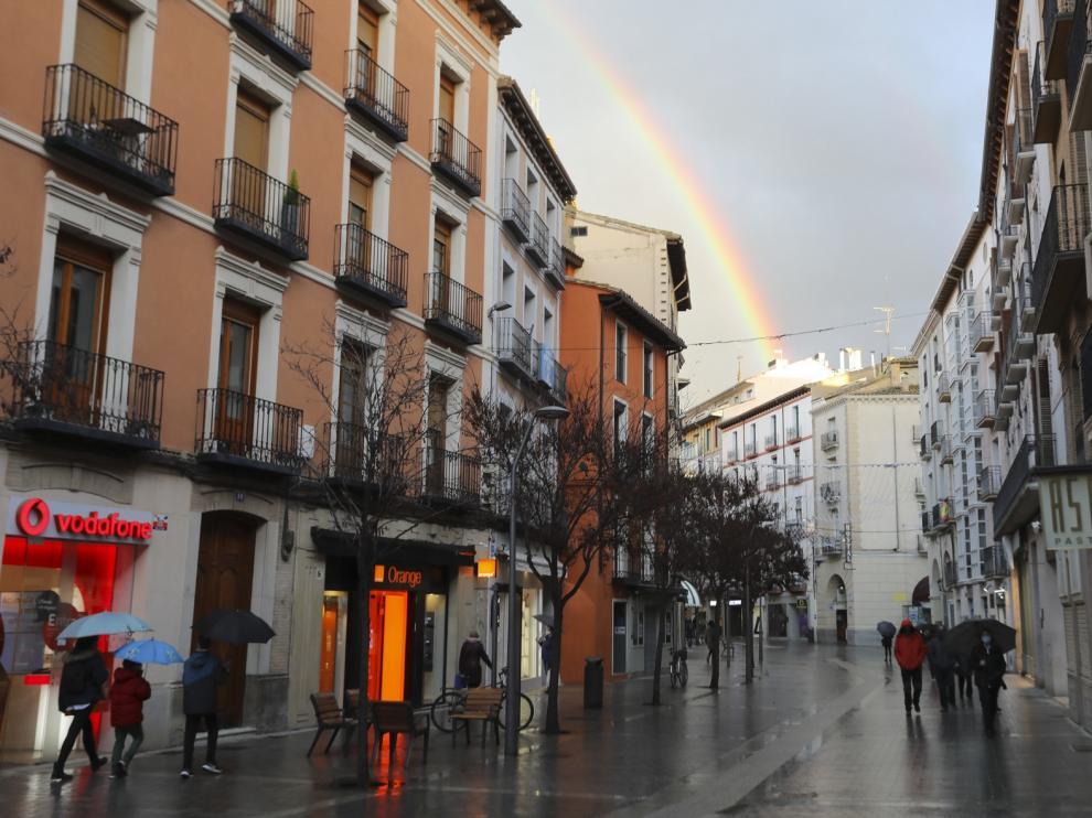 Arcoíris en el Coso Alto de Huesca