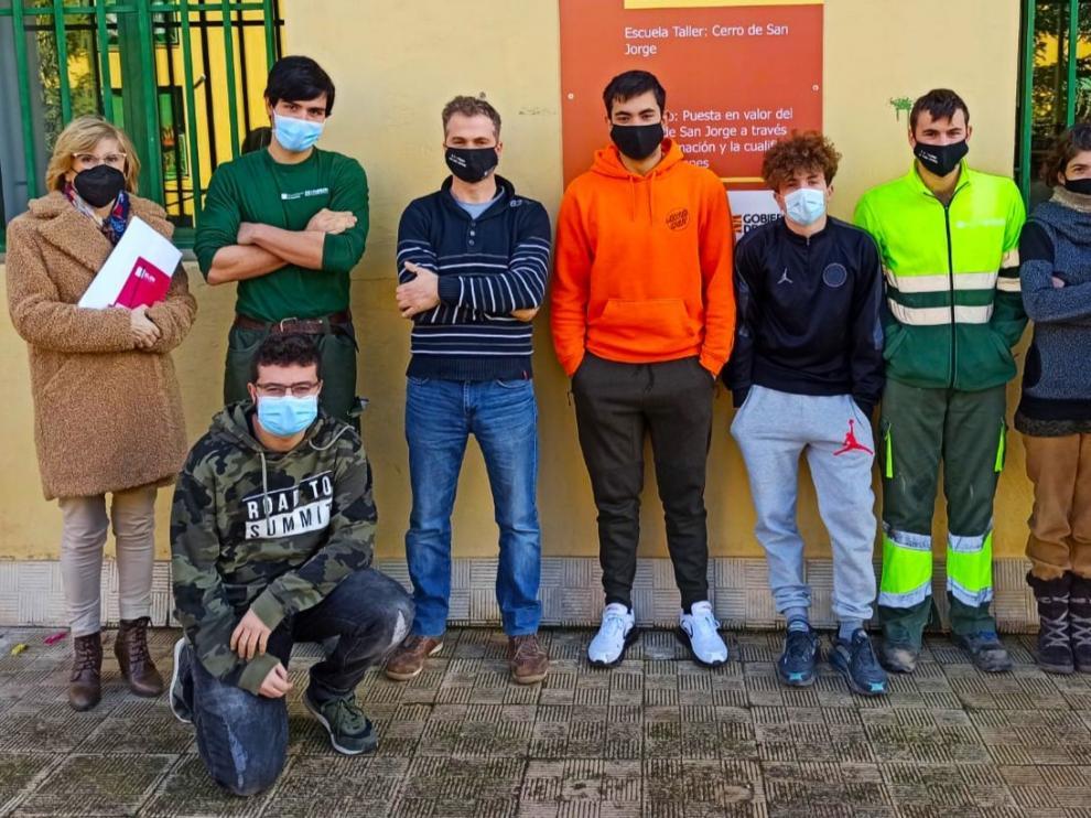 Los alumnos de la escuela-taller de poda y repoblación forestal de Huesca reciben su certificado de profesionalidad