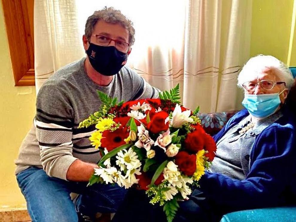 Zaidín homenajea a la centenaria Rosa Javierre Torrijos