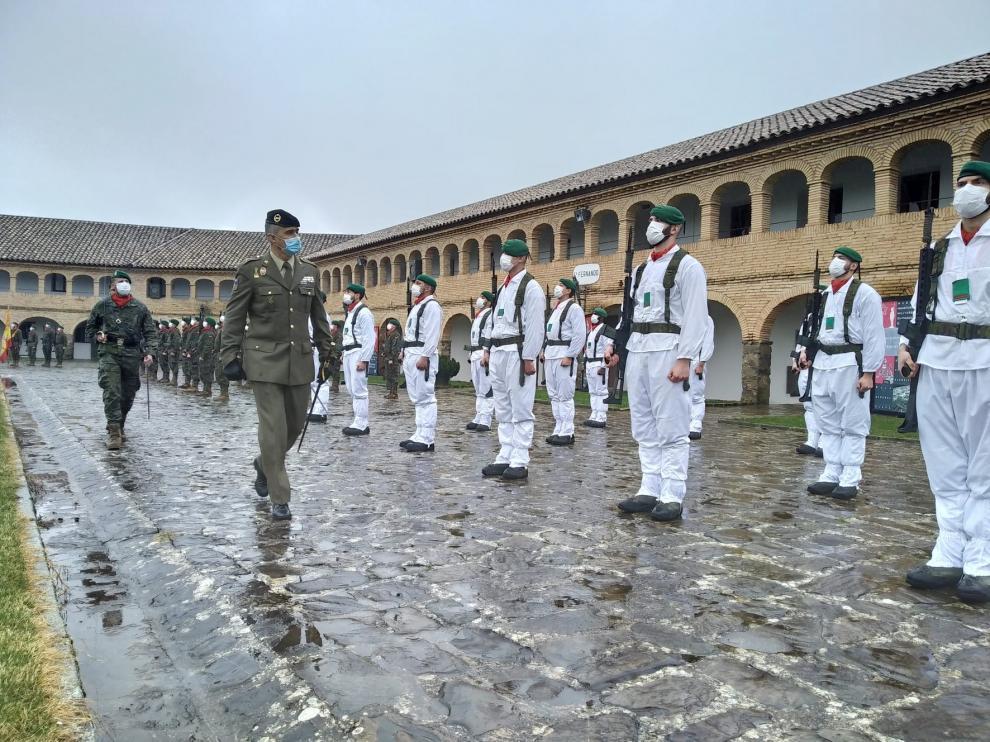 El regimiento Galicia 64 de Jaca se integra en el Mando de Tropas de Montaña de Pamplona