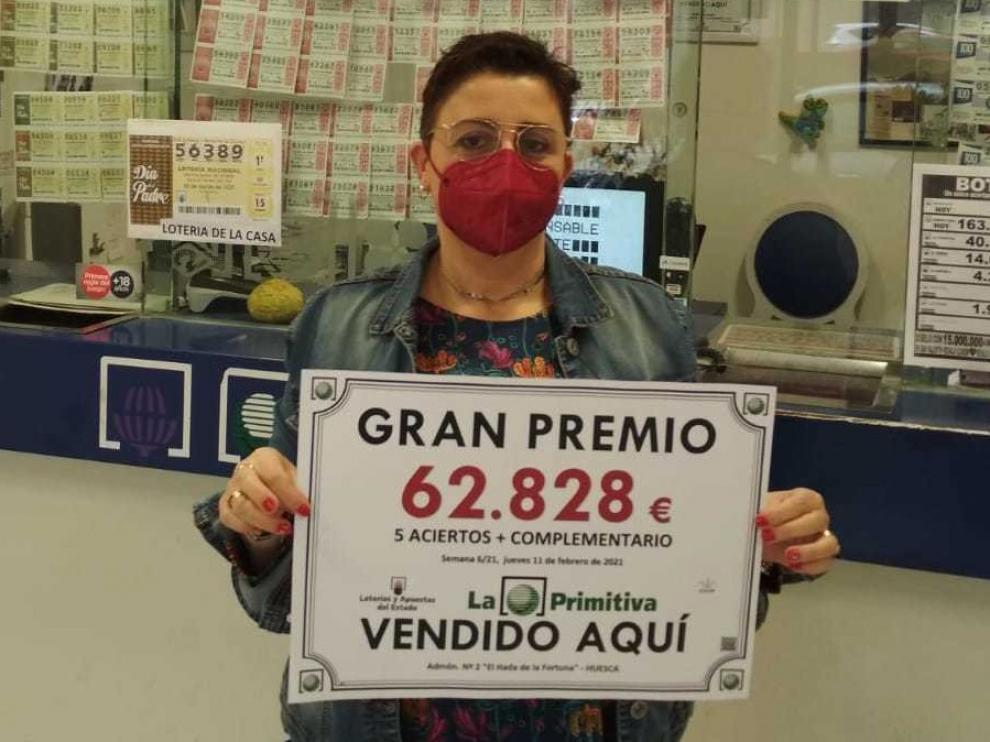 El sorteo de la Primitiva deja casi 63.000 euros en Huesca