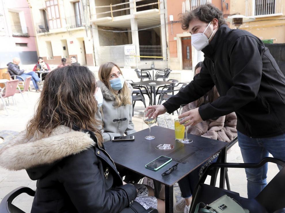 La hostelería pide más horario debido a la reducción de contagios en Huesca