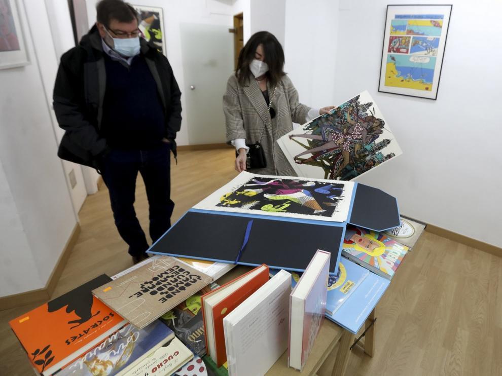 La librería Anónima de Huesca presenta unas serigrafías dedicadas al mundo del cómic