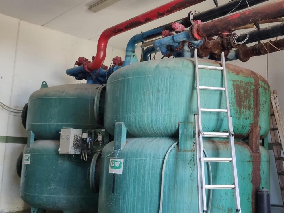 Comienzan las obras del sistema de tratamiento y filtrado del agua de Sariñena