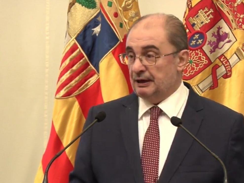 El presidente de Aragón, Javier Lambán, anuncia que padece un cáncer de colon