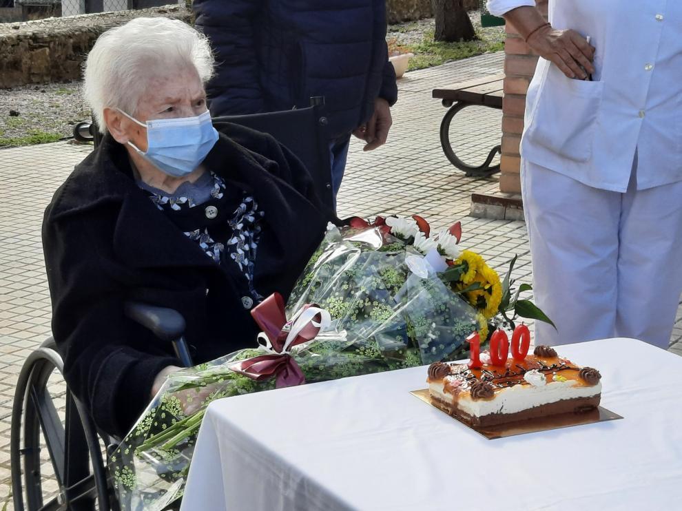 La grausina Natividad Armisén celebra su centenario