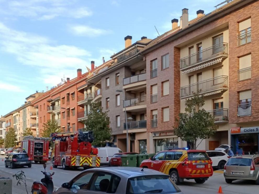 Se declara un incendio en una vivienda de Graus por la mala combustión en un hogar