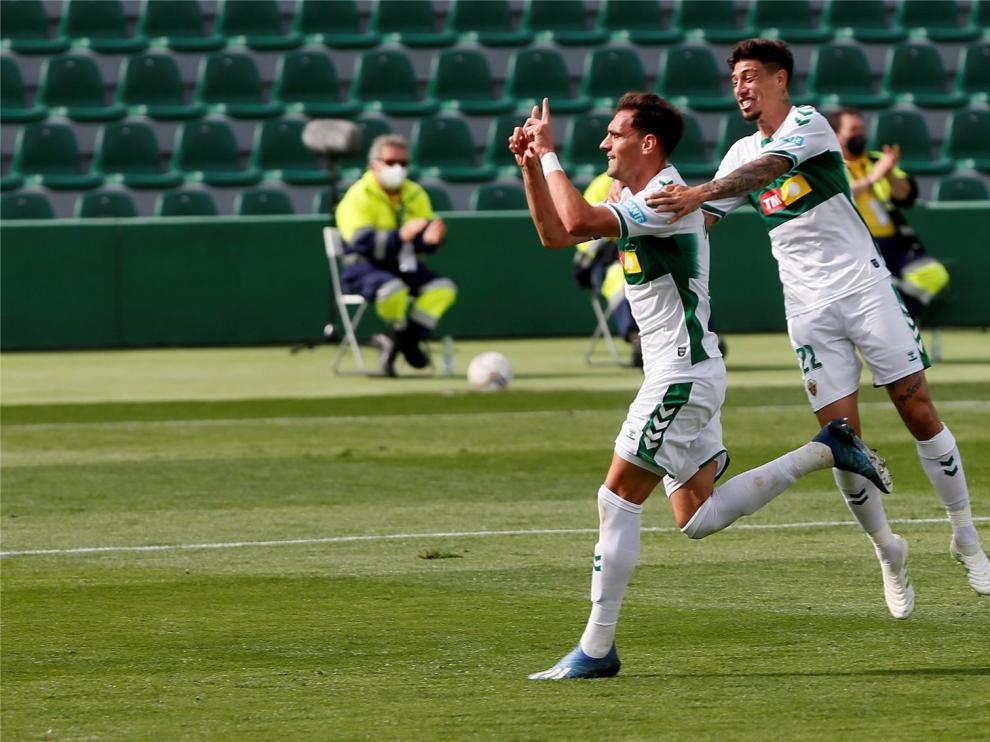 Dani Calvo se estrena como goleador en Primera