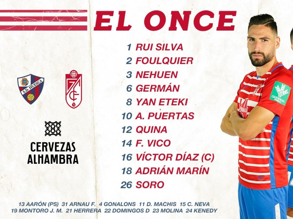 El Huesca vence al Granada y sigue muy vivo (3-2)