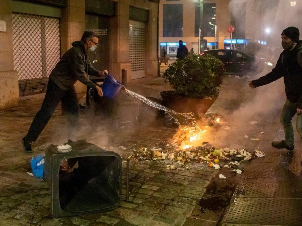 Los disturbios de Cataluña se saldan con 38 detenidos