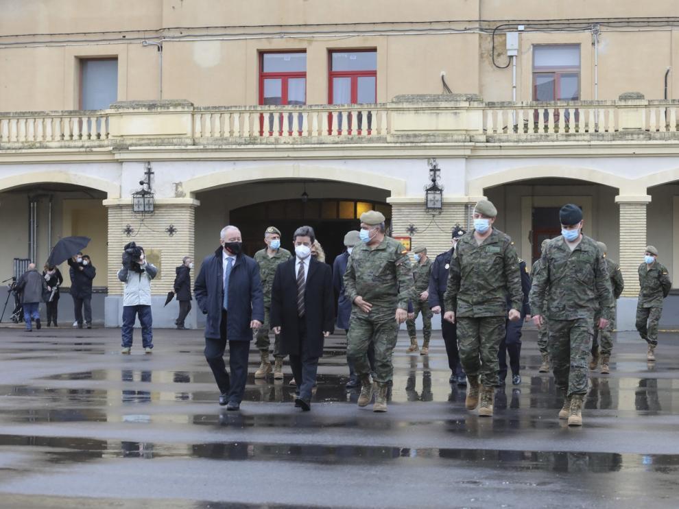 Huesca cuenta con el único cuartel de División desplegable del Ejército