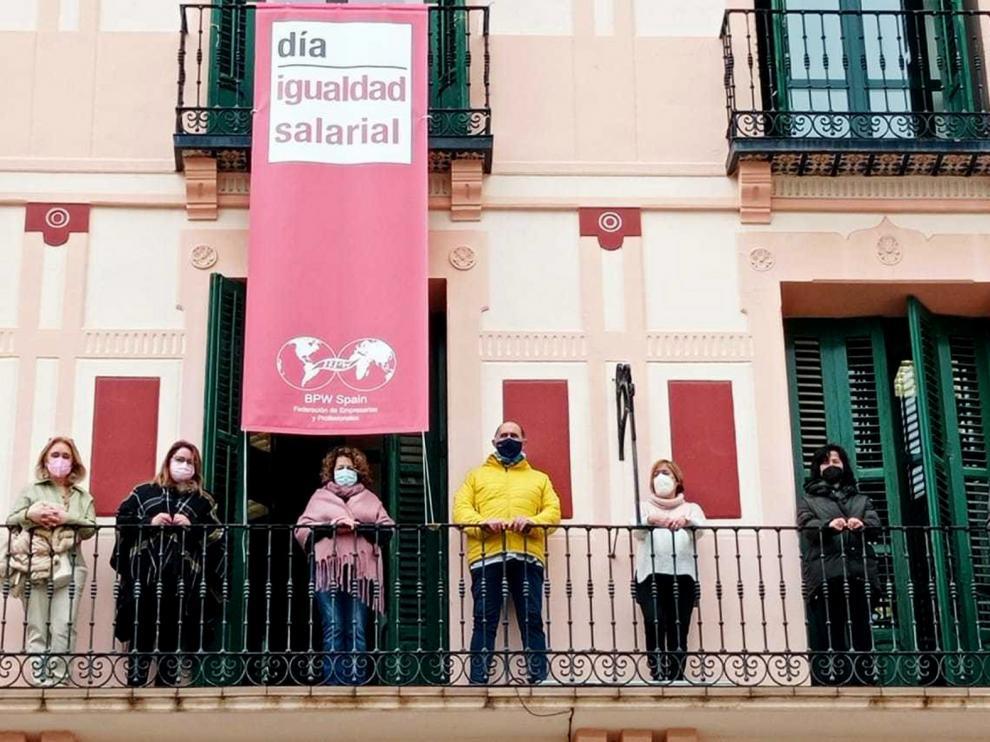 """La reivindicación de Amephu en Huesca: """"a igual trabajo, igual salario"""""""