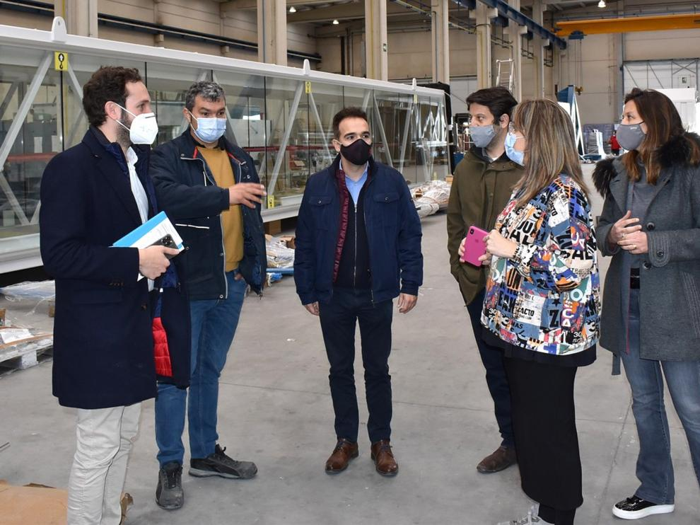 Isaac Claver conoce los proyectos de futuro de Adelte en Monzón