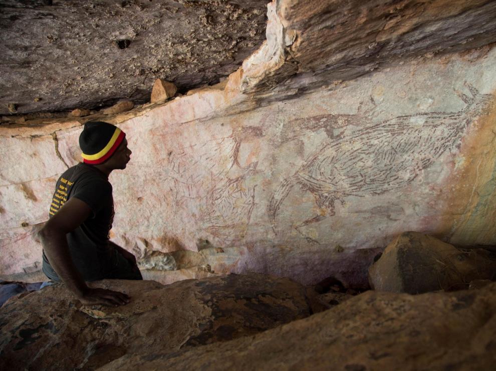 Un canguro de hace 17.300 años, pintura rupestre más antigua de Australia