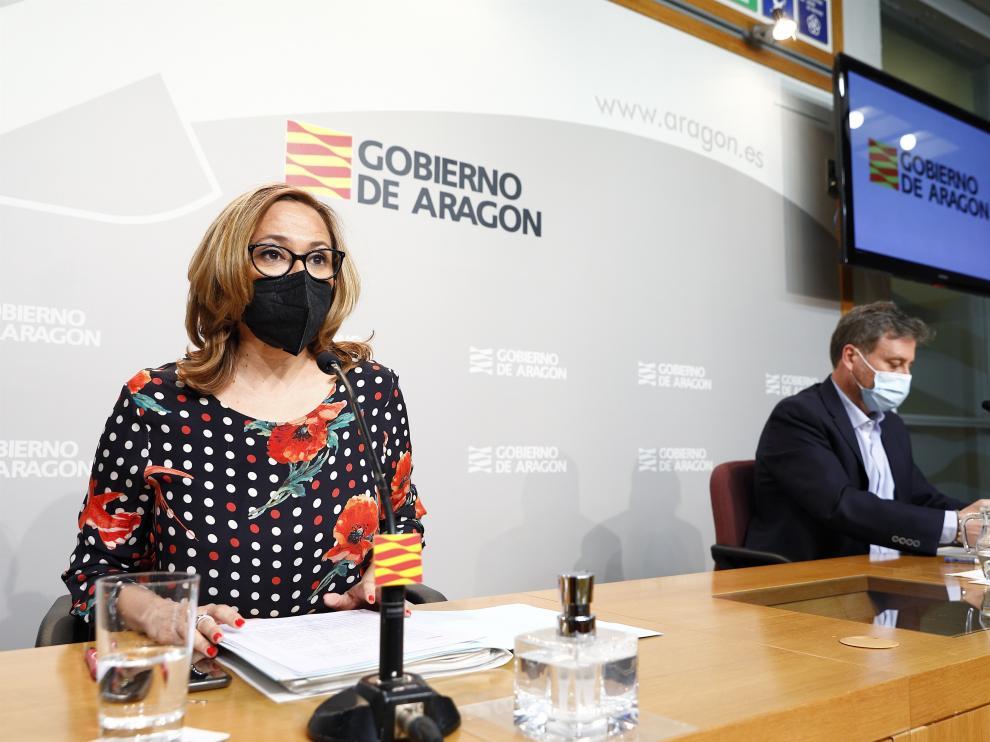 La consejera de Presidencia y Relaciones Institucionales de Gobierno de Aragón, Mayte Pérez.