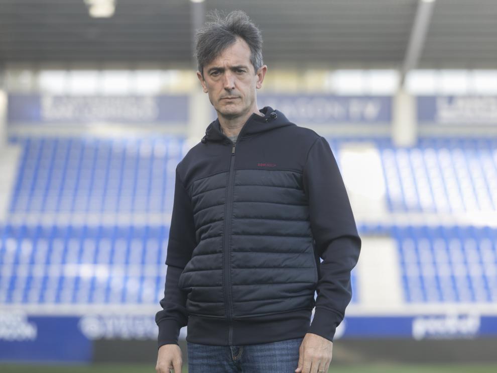 Pacheta, entrenador de la SD Huesca, en el Alcoraz / 23-02-2021 / Foto Rafael Gobantes[[[DDA FOTOGRAFOS]]]