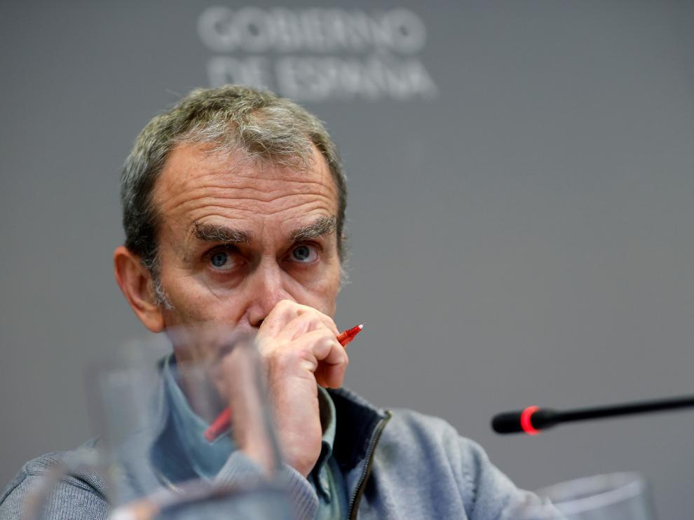 Fernando Simón durante la rueda de prensa de este jueves.