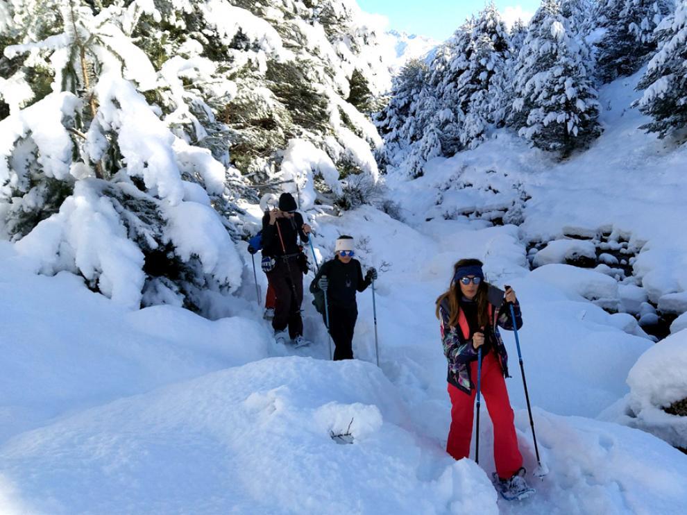 raquetas de nieve, ruta cuaderno de viaje