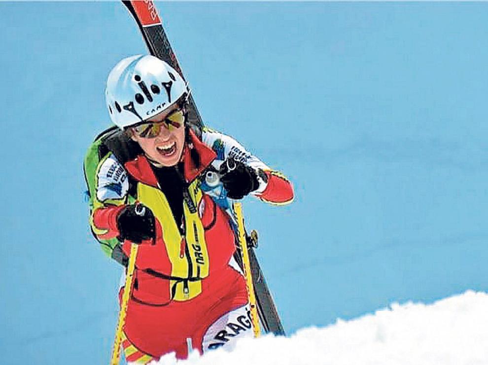 Claudia Valero es una de las grandes promesas del esquí de montaña español.