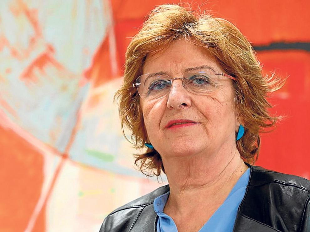 La Consejera de Derechos Sociales María Victoria Broto