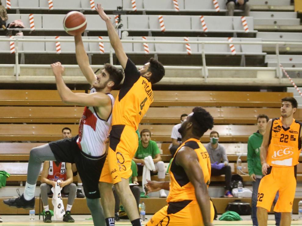 Ignacio Rosa, en el partido de ida contra el Força Lleida.