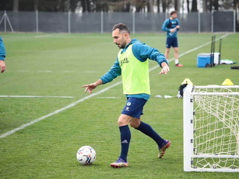 David Ferreiro, en un entrenamiento
