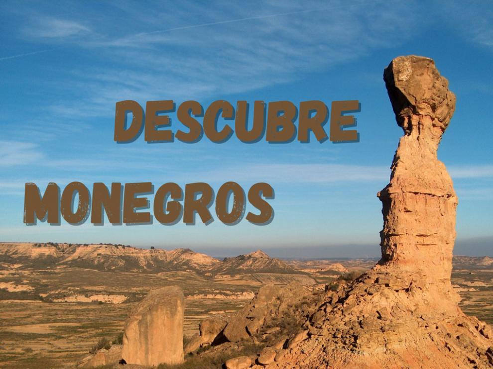 Parte del cartel promocional de la iniciativa Descubre Monegros.