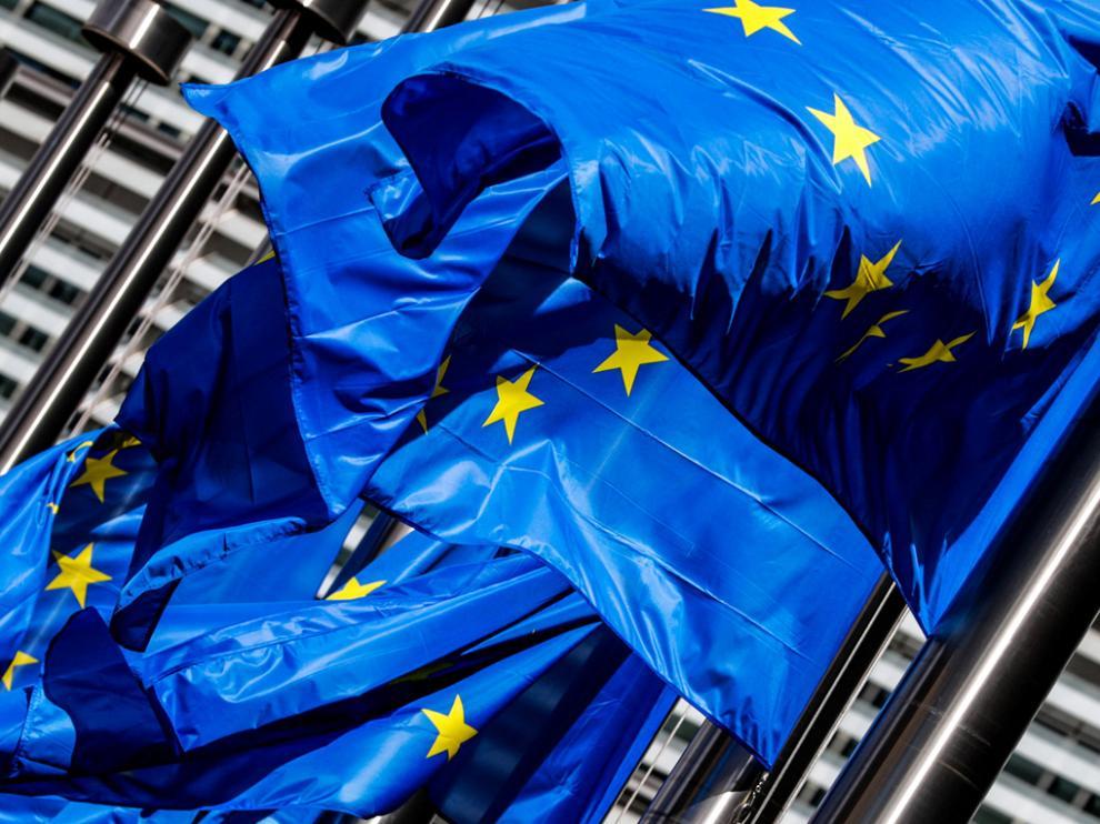 Banderas de la Comisión Europea.