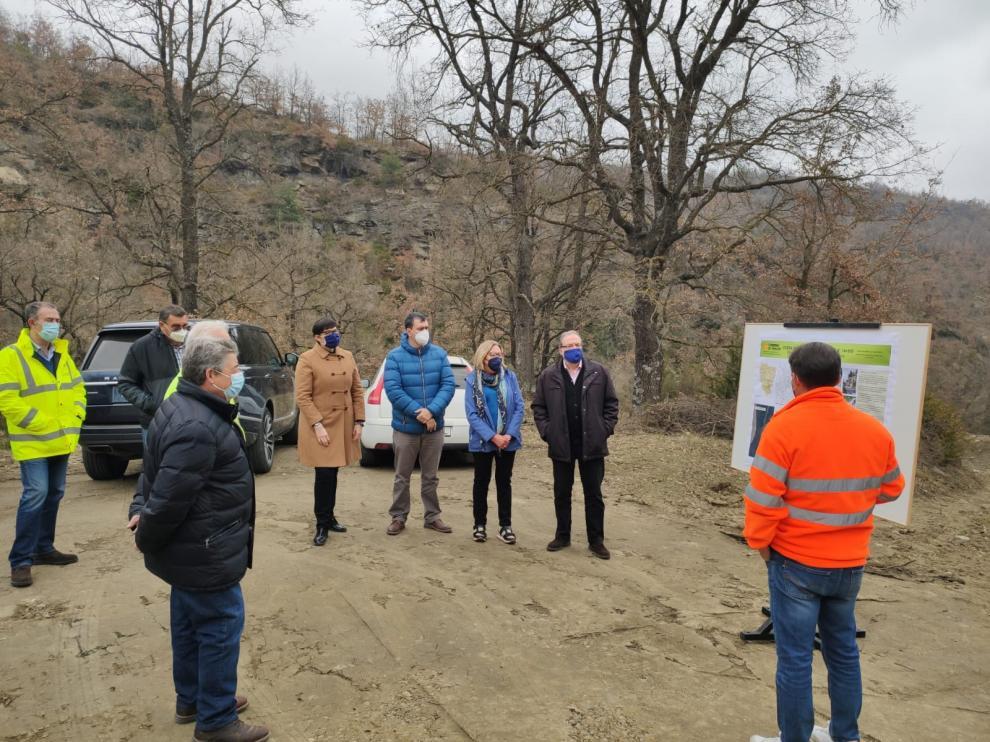 Explicación de las obras llevadas a cabo en la A-2613 entre Castigaleu y Monesma.